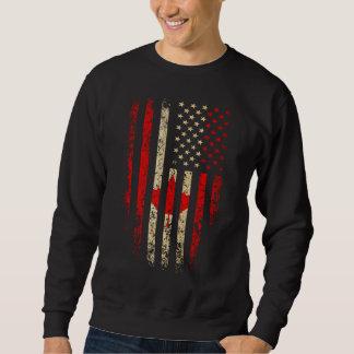 Canadian American Flag Grunge Sweatshirt