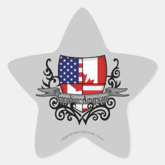 Canadian-American Shield Flag Star Sticker