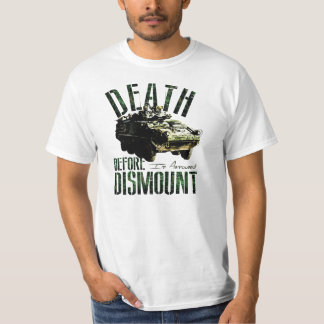 """Canadian Armoured """"Death Before Dismount"""" T-Shirt"""