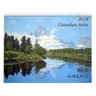 Canadian Artist Rick Gallant Wall Calendar