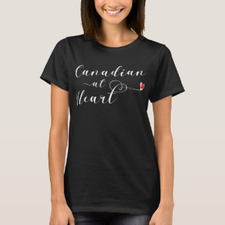 Canadian At Heart Tee Shirt, Canada