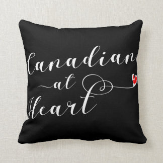 Canadian At Heart Throw Cushion, Canada Throw Pillow