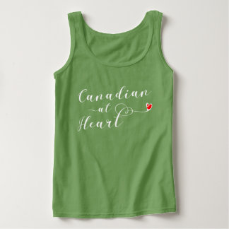 Canadian At Heart Vest Top, Canada Tank Top