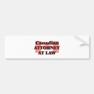 Canadian Attorney At Law Bumper Sticker