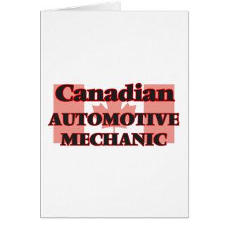 Canadian Automotive Mechanic Greeting Card