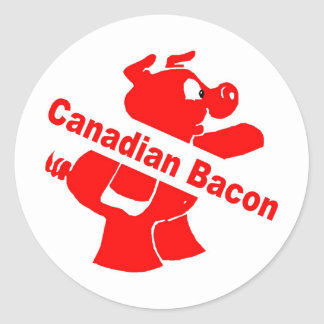 Canadian Bacon Round Sticker
