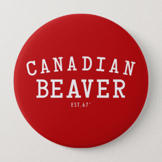Canadian Beaver 67 4 Inch Round Button