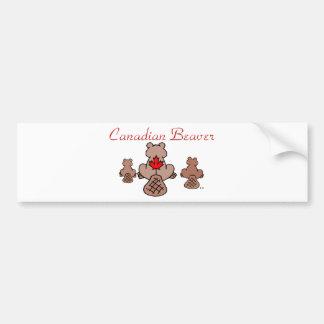 Canadian Beaver Bumper Sticker