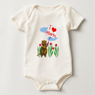 Canadian Beaver Loves Alberta Baby Bodysuit