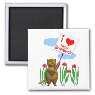 Canadian Beaver Loves New Brunswick Magnet