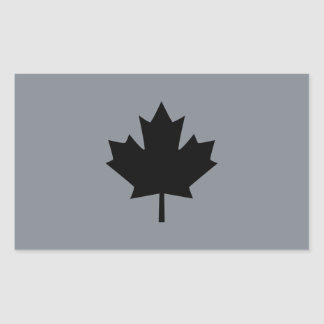 Canadian Black Maple Leaf Style