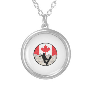 Canadian Boarders Silver Plated Necklace