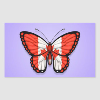 Canadian Butterfly Flag on Purple