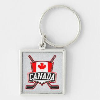 Canadian Canada Hockey Flag Keyring