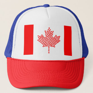 Canadian Canada Maple Leaf Red White Truckers Hat