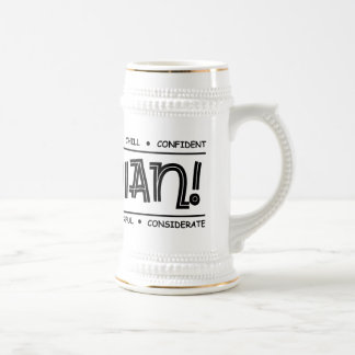 """Canadian Characteristics"" Full Wrap Design Stein"