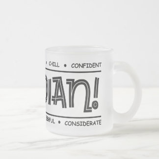 """Canadian Characteristics"" Full Wrap Frosted Mug"