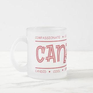 Canadian Characteristics! Wrap Design Frosted Mug