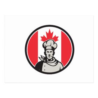 Canadian Chef Baker Canada Flag Icon Postcard