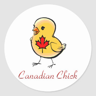 Canadian Chick Stickers