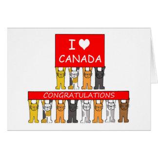 Canadian citizenship congratulations. card