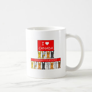 Canadian citizenship congratulations. coffee mug