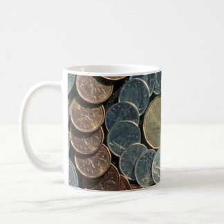 Canadian coins classic white coffee mug