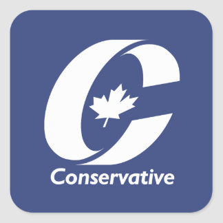 Canadian Conservative Party Square Sticker