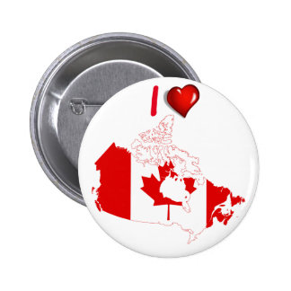 Canadian country flag 2 inch round button