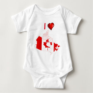Canadian country flag baby bodysuit