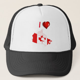 Canadian country flag trucker hat