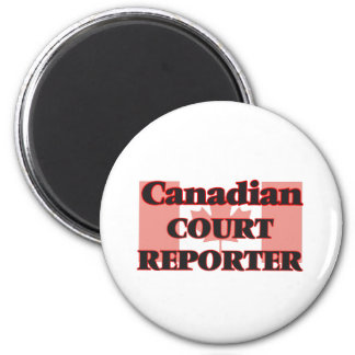 Canadian Court Reporter 2 Inch Round Magnet