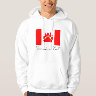 Canadian Cub Canadian Flag Red Bear Paw Hoodie
