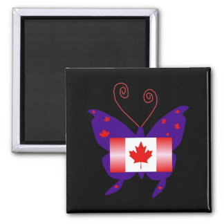 Canadian Diva Butterfly Magnets