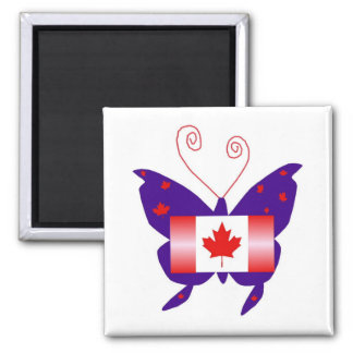 Canadian Diva Butterfly Refrigerator Magnet