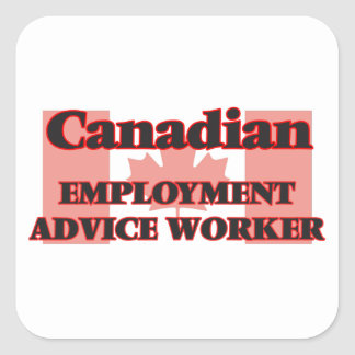 Canadian Employment Advice Worker Square Sticker