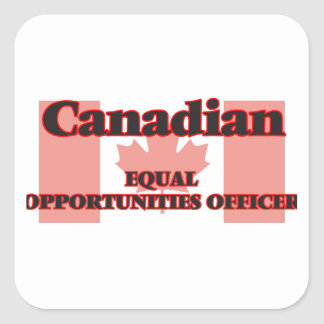 Canadian Equal Opportunities Officer Square Sticker