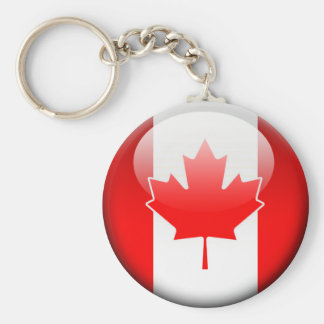 Canadian Flag 2.0 Basic Round Button Keychain