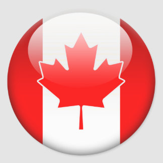 Canadian Flag 2 0 Round Stickers