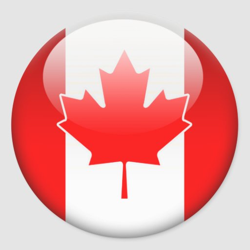 Canadian Flag 2.0 Round Stickers