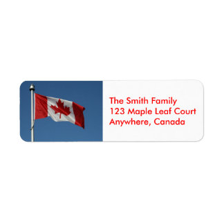 Canadian Flag Address Labels