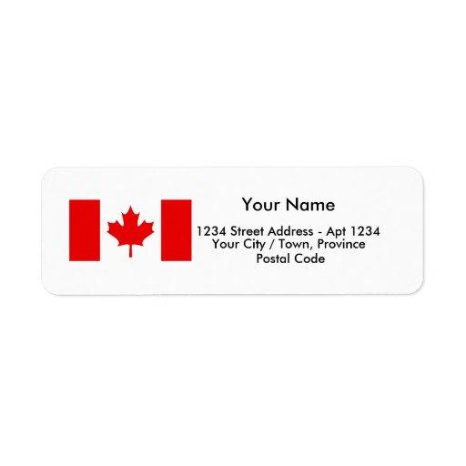 Canadian Flag Address Labels Zazzle