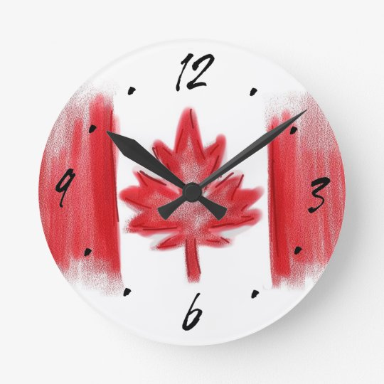 Canadian Flag artistic decorative wall clock