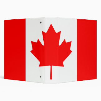 Canadian Flag Avery Binder