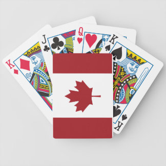 Canadian flag bicycle playing cards