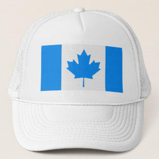Canadian Flag - blue Trucker Hat