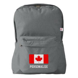 Canadian flag Canada pride custom backpack bag