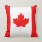 Canadian Flag Canada Red Maple Leaf Throw Pillow