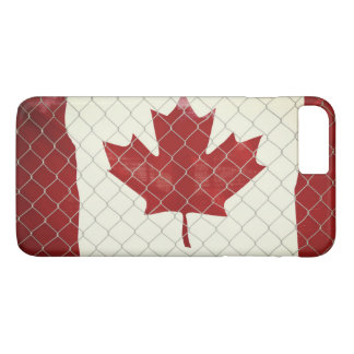 Canadian Flag. Chain Link Fence. Rustic. Cool. iPhone 8 Plus/7 Plus Case