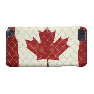 Canadian Flag. Chain Link Fence. Rustic. Cool. iPod Touch (5th Generation) Case